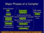 major phases of a compiler32
