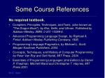 some course references