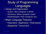 study of programming languages