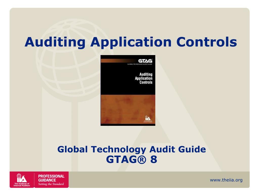 auditing application controls l.