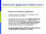 submit the application online cont28