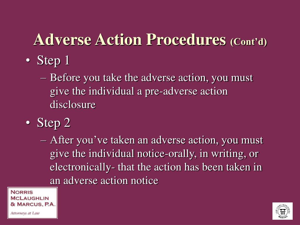 Adverse Action Procedures