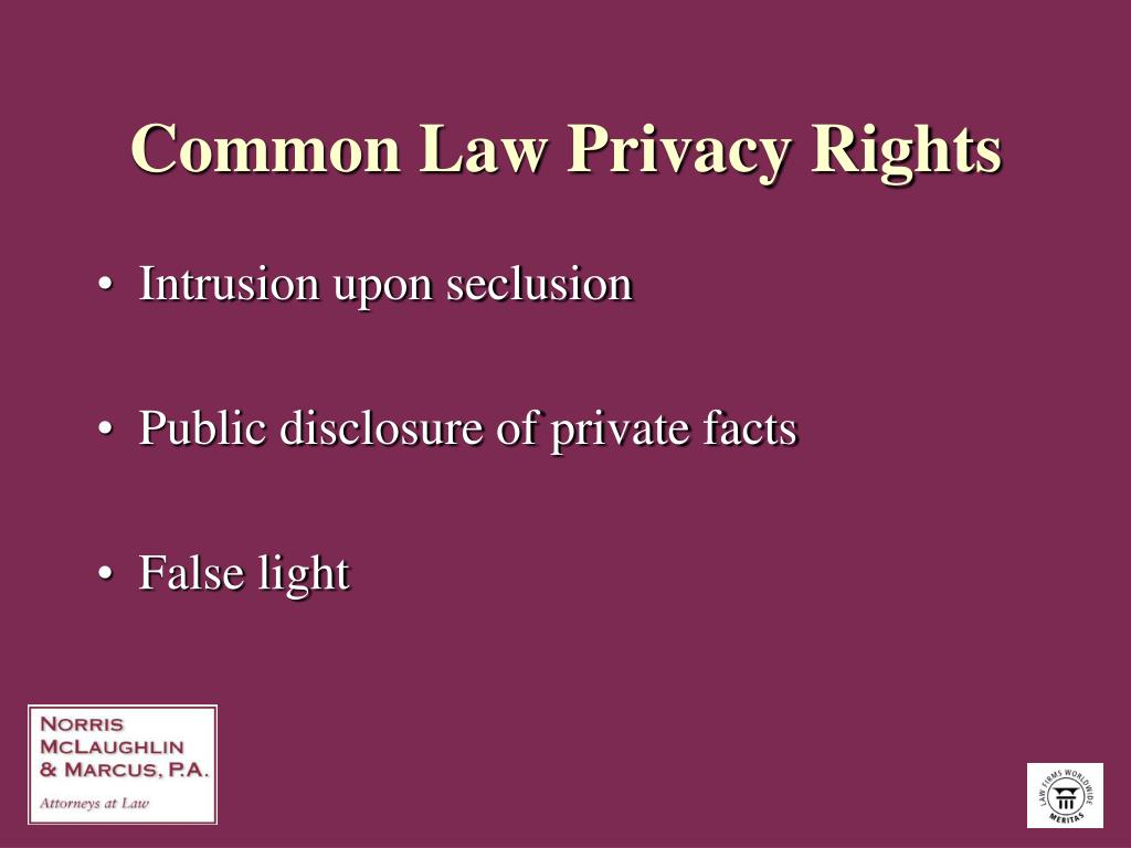 Common Law Privacy Rights