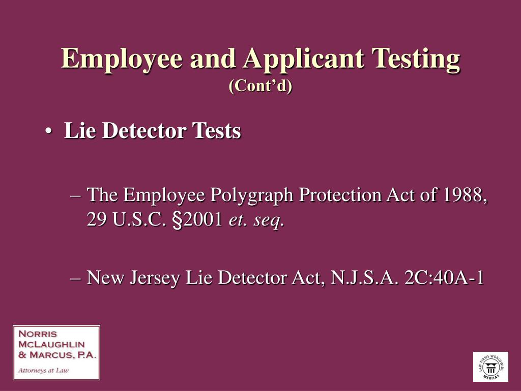 Employee and Applicant Testing