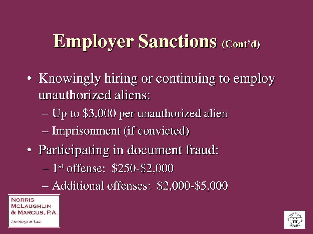 Employer Sanctions