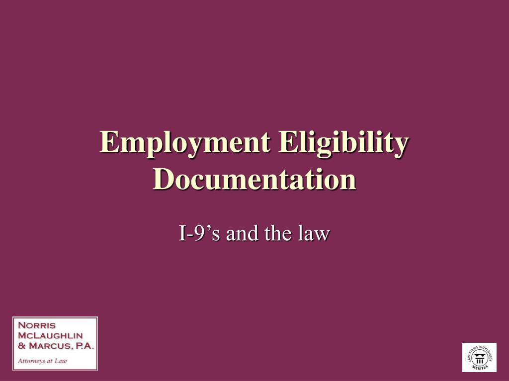Employment Eligibility Documentation