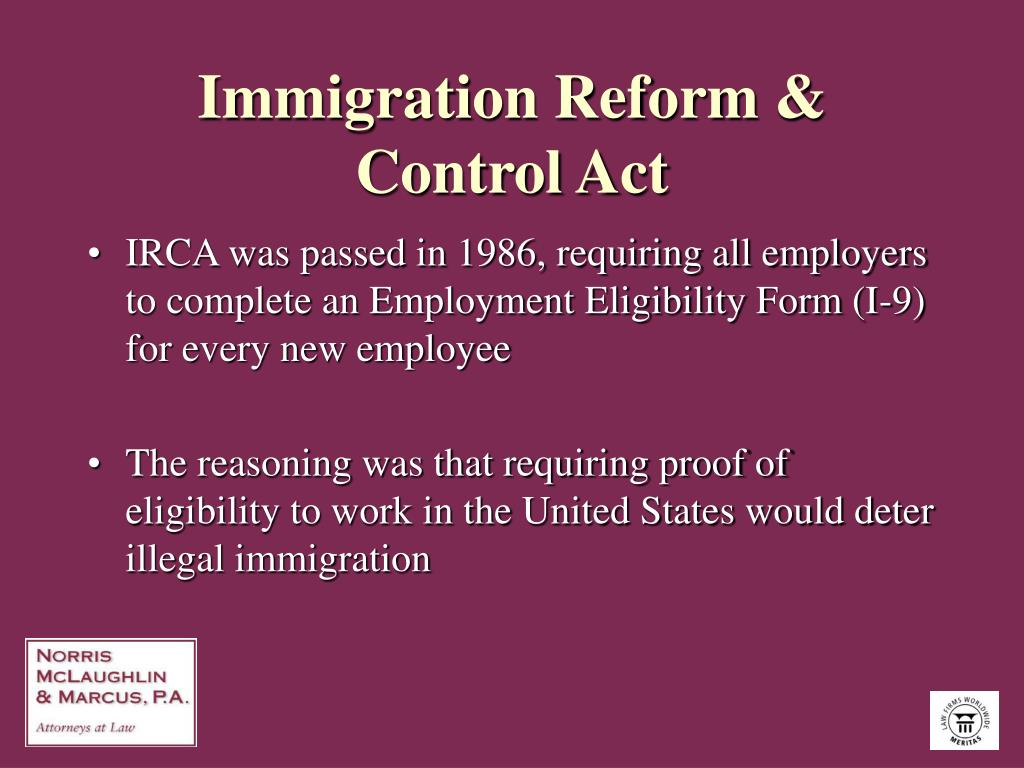 Immigration Reform & Control Act