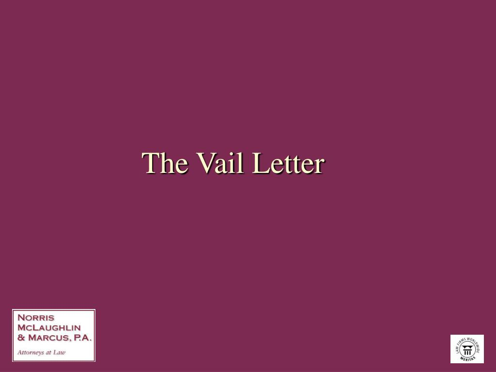 The Vail Letter