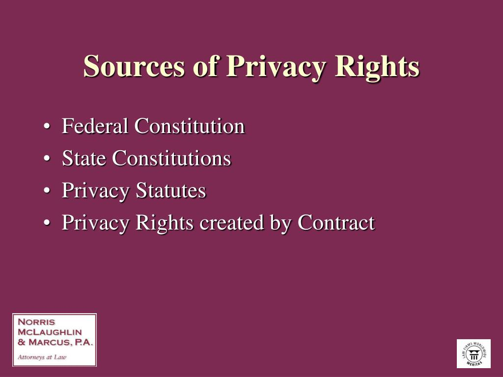 Sources of Privacy Rights