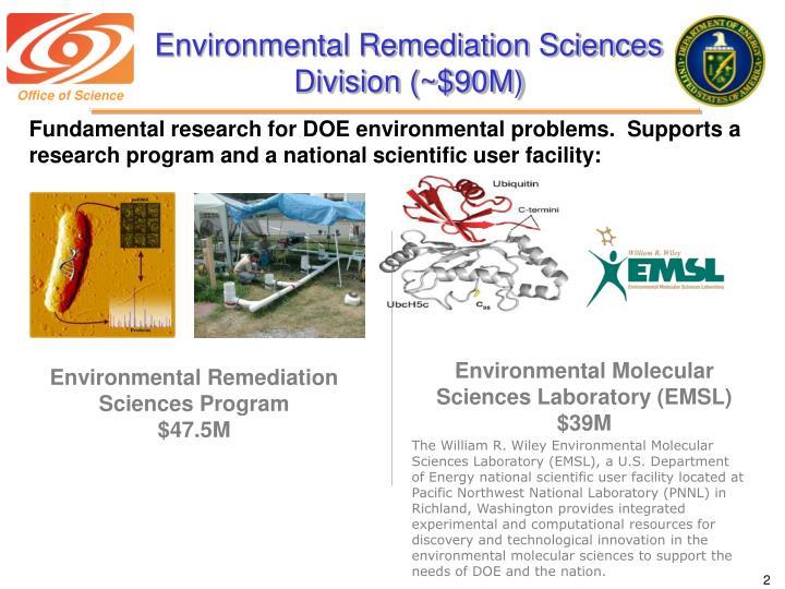 Environmental remediation sciences division 90m