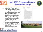 may 2006 follow on review committee charge