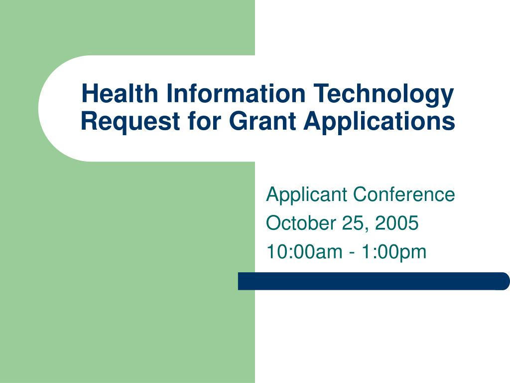 health information technology request for grant applications l.