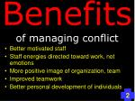 benefits of managing conflict