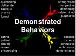 demonstrated behaviors66