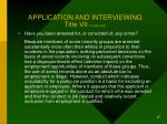 application and interviewing title vii continued27