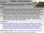catholic jewish statement