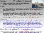 un confirms vatican role