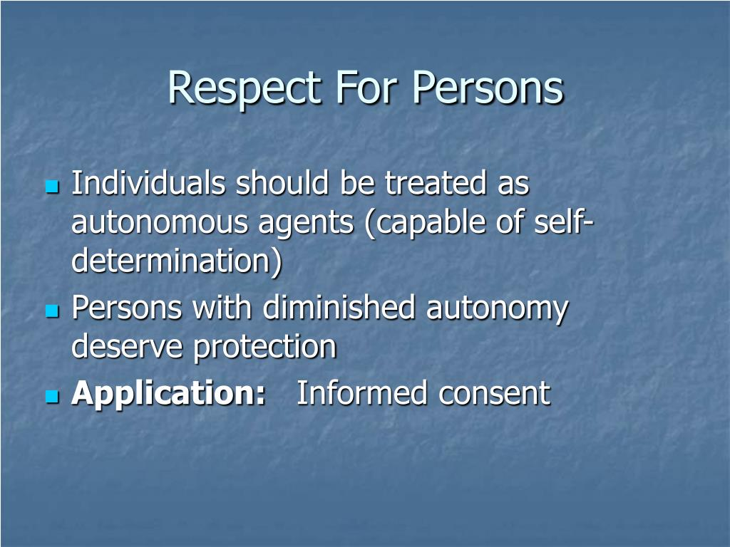 Respect For Persons