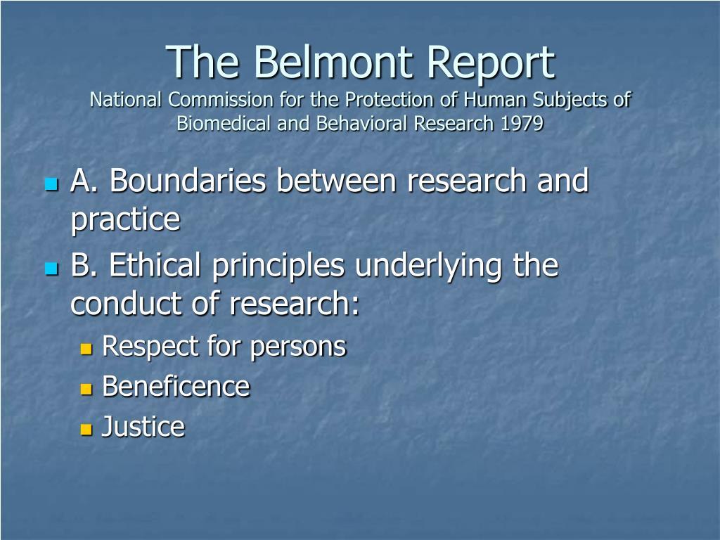 The Belmont Report