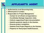 applicant s agent