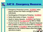 cat b emergency measures