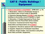 cat e public buildings equipment