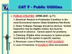 cat f public utilities