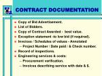 contract documentation