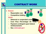 contract work
