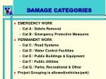 damage categories