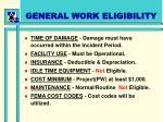 general work eligibility