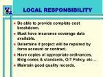 local responsibility22