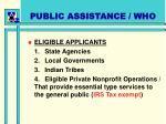public assistance who