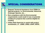 special considerations54