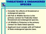 threatened endangered species