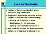 time extensions