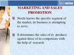 marketing and sales promotion