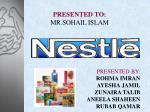 presented to mr sohail islam