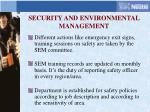 security and environmental management
