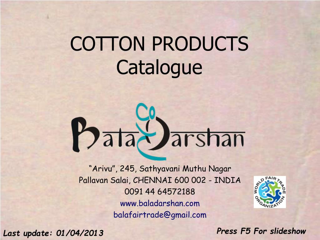 cotton products catalogue l.
