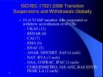 iso iec 17021 2006 transition suspensions and withdrawals globally
