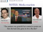 notes media reaction