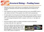structural biology pending issues
