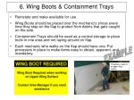 6 wing boots containment trays