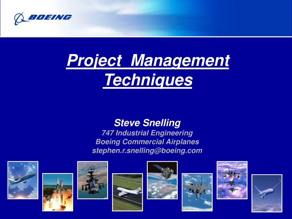 project management techniques l.