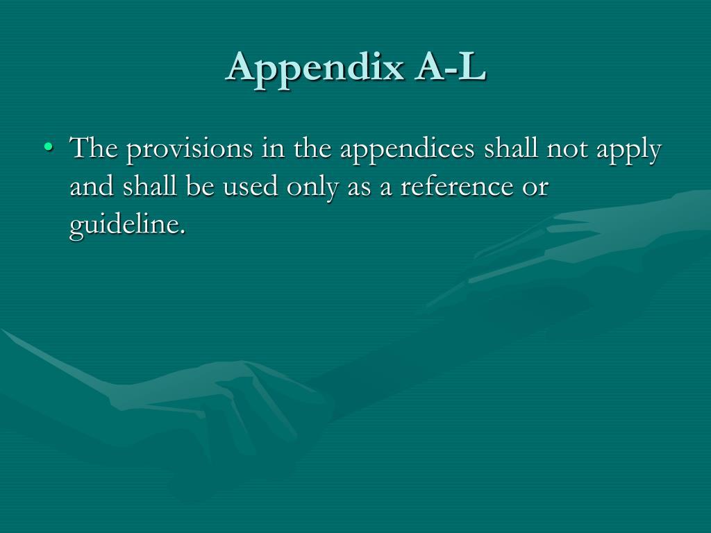 Appendix A-L