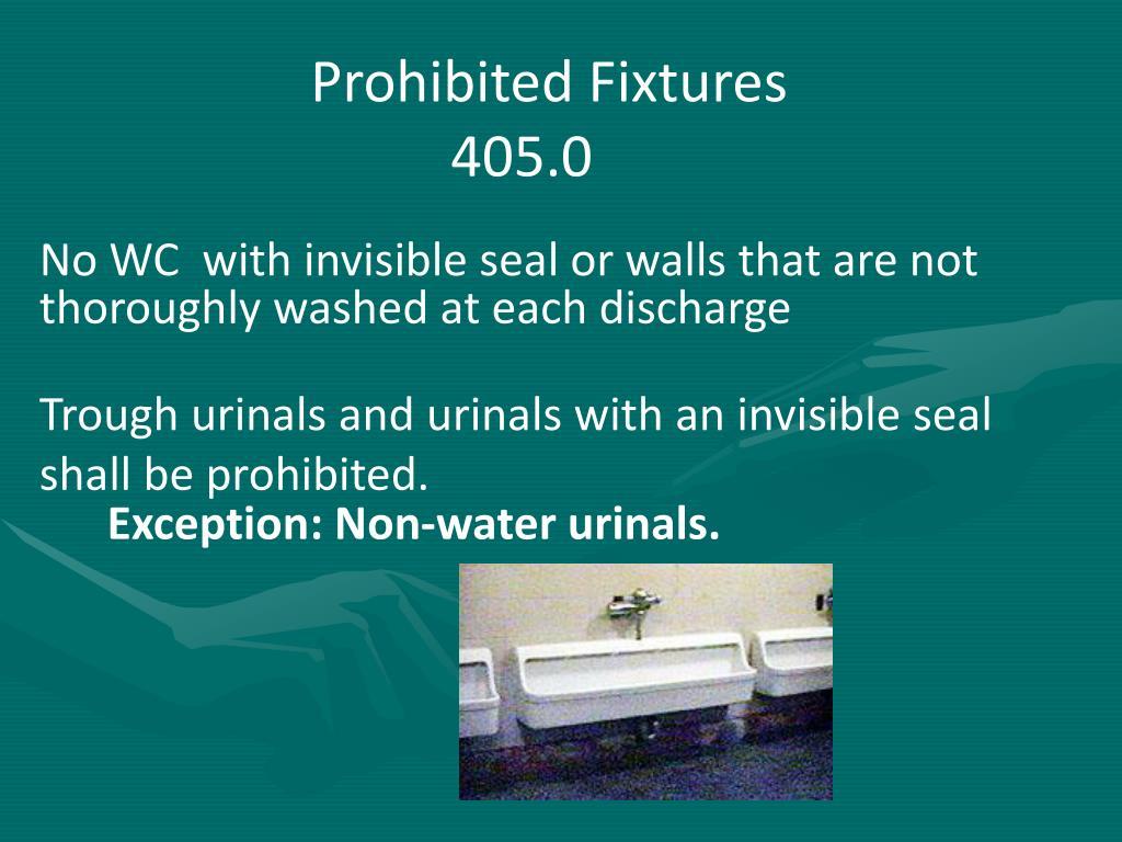 Prohibited Fixtures