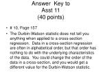 answer key to asst 11 40 points