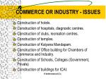 commerce or industry issues