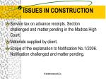 issues in construction